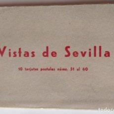 Postales: SEVILLA BLOC COMPLETO DE 10 POSTALES . Lote 169028736