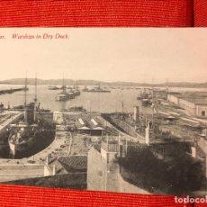 Postales: GIBRALTAR BARCOS DE GUERRA WAR SHIPS IN DRY DOCK. Lote 169433944