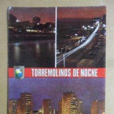 Postales: POSTAL - 57 - TORREMOLINOS DE NOCHE (MALAGA - COSTA DEL SOL) - DIVERSOS ASPECTOS - ESCUDO DE ORO. Lote 169552732