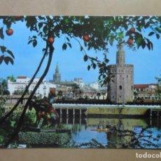 Postales: POSTAL - 162 - SEVILLA - RIO GUADALQUIVIR, TORRE DEL ORO Y GIRALDA - ED. RO-FOTO. Lote 169556732
