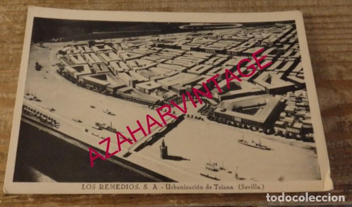 SEVILLA - RARA POSTAL DE LOS REMEDIOS S.A. URBANIZACIÓN DE TRIANA (Postales - España - Andalucia Moderna (desde 1.940))