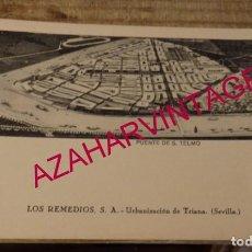 Postales: SEVILLA - RARA POSTAL DE LOS REMEDIOS S.A. URBANIZACIÓN DE TRIANA. Lote 169865164