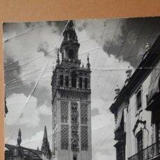 Postales: SEVILLA. GIRALDA, Nº 172, VISTA DESDE LA CALLE MATEOS GAGO. EDICIONES SICILIA. Lote 170036768