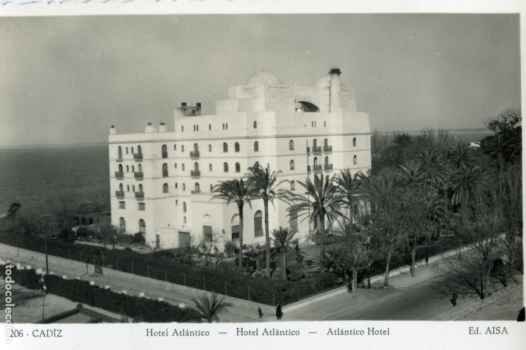 CADIZ. HOTEL ATLANTICO. ED. AISA (Postales - España - Andalucia Moderna (desde 1.940))