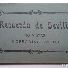 Postales: SEMANA SANTA SEVILLA PROCESIÓN POSTAL COFRADÍA BLOC 10 VISTAS EDITOR MANUEL BARREIRO. Lote 170455276