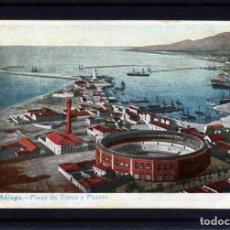 Postales: POSTAL DE MALAGA-SIN DATOS DEL EDITOR-PLZA.DE TOROS Y PUERTO-VER FOTO ADICIONAL DEL REVERSO. Lote 171169947