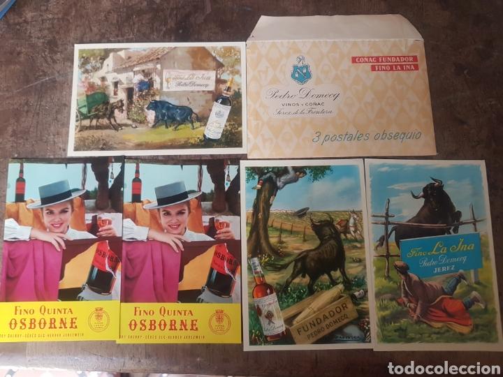 POSTALES PEDRO DOMECQ Y OSBORNE. CON SOBRE DE PEDRO DOMECQ (Postales - España - Andalucia Moderna (desde 1.940))
