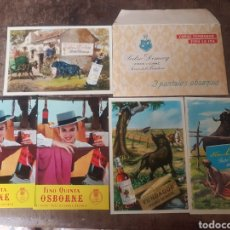 Postales: POSTALES PEDRO DOMECQ Y OSBORNE. CON SOBRE DE PEDRO DOMECQ. Lote 171175223