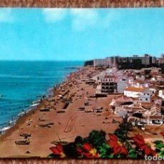 Postales: TORREMOLINOS - PLAYA DE LA CARIHUELA. Lote 171193330