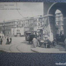 Postales: ANDALUCIA SEVILLA PLAZA DE LA CONSTITUCION HAUSER 334 POSTAL AÑO 1907. Lote 171391230