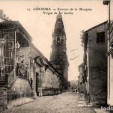 Postales: ANDALUCIA CÓRDOBA EXTERIOR DE LA MEZQUITA Y VIRGEN DE LOS FAROLES POSTAL ANTIGUA. Lote 171393280