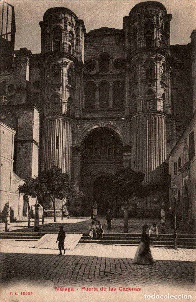 ANDALUCIA MÁLAGA PUERTA DE LAS CADENAS POSTAL ANTIGUA (Postales - España - Andalucía Antigua (hasta 1939))