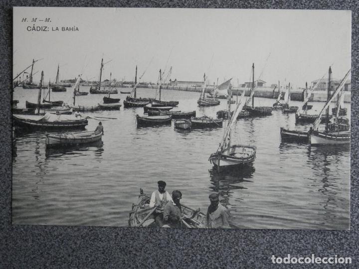 ANDALUCÍA CÁDIZ LA BAHIA HAUSER Y MENET POSTAL ANTIGUA (Postales - España - Andalucía Antigua (hasta 1939))