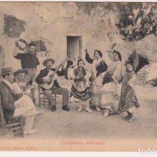 Postales: MUY BUSCADA TARJETA POSTAL COSTUMBRES ANDALUZAS 1905. Lote 171408729