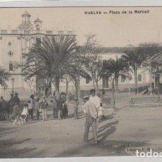 Postales: HUELVA PLAZA DE LA MERCED. PAPELERÍA M. MORA Y CIA. SIN CIRCULAR. . Lote 171409380