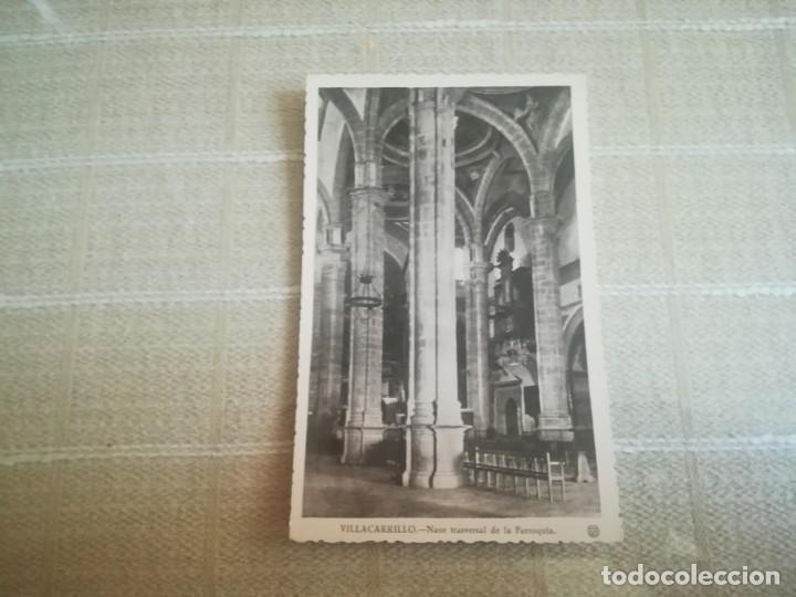 MUY RARA POSTAL DE VILLACARRILLO (JAÉN) NAVE TRANSVERSAL DE LA PARROQUIA SIN CIRCULAR MIREN FOTOS (Postales - España - Andalucia Moderna (desde 1.940))