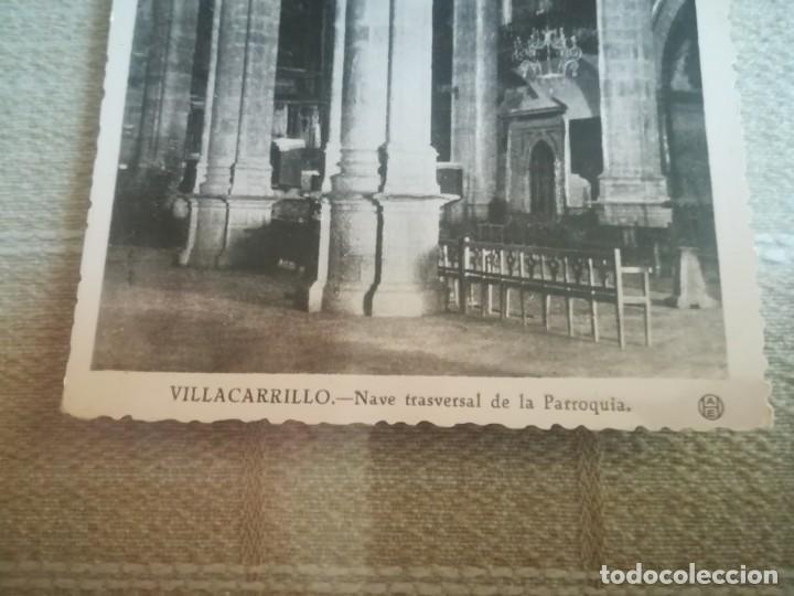 Postales: MUY RARA POSTAL DE VILLACARRILLO (JAÉN) NAVE TRANSVERSAL DE LA PARROQUIA SIN CIRCULAR MIREN FOTOS - Foto 3 - 171418163