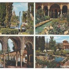 Postales: GRANADA - GENERALIFE .- 811.- JARDINES DEL GENERALIFE. Lote 171534420