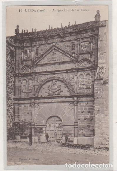 UBEDA JAÉN. 10 ANTIGUA CASA DE LAS TORRES. EDICIÓN S ADAM. SIN CIRCULAR. (Postales - España - Andalucía Antigua (hasta 1939))