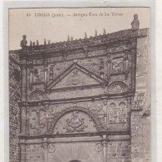 Postales: UBEDA JAÉN. 10 ANTIGUA CASA DE LAS TORRES. EDICIÓN S ADAM. SIN CIRCULAR. . Lote 171599098