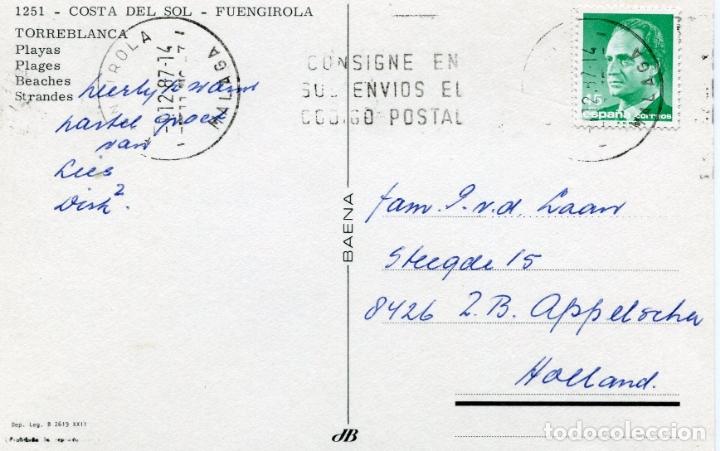 Postales: FUENGIROLA. COSTA DEL SOL. CIRCULADA. BAENA. VER FOTO - Foto 2 - 171780753