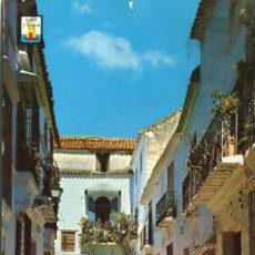 Postales: MARBELLA. CIRCULADA. CALLE VIRGEN DE LOS DOLORES. DOMINGUEZ. VER REVERSO Y DEFECTO. Lote 171802879
