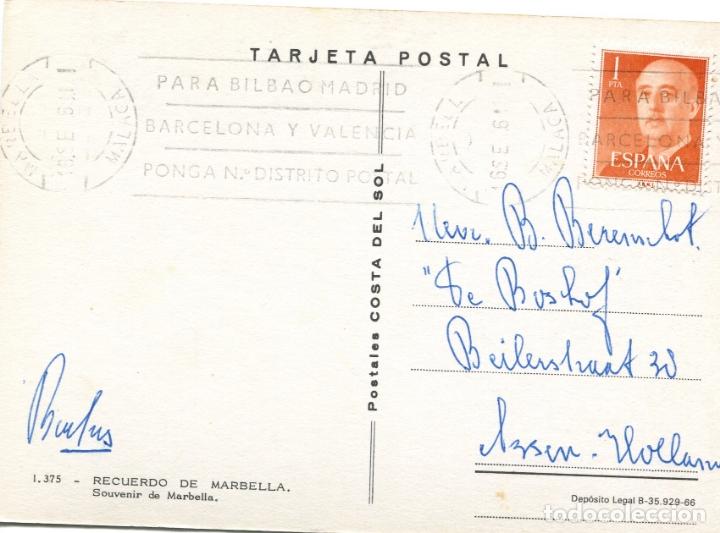 Postales: MARBELLA. CIRCULADA. POSTALES COSTA DEL SOL. VER REVERSO - Foto 2 - 171803149