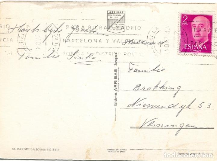 Postales: MARBELLA. CIRCULADA. EDICIONES ARRIBAS. VER REVERSO - Foto 2 - 171807264
