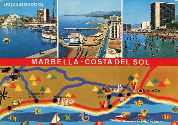 MARBELLA. CIRCULADA. EDICIONES ARRIBAS. VER REVERSO (Postales - España - Andalucia Moderna (desde 1.940))