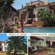 Postales: TORREMOLINOS. HOTEL R. MIAMI CIRCULADA. GARCIA GARRABELLA.. VER REVERSO. Lote 171823255
