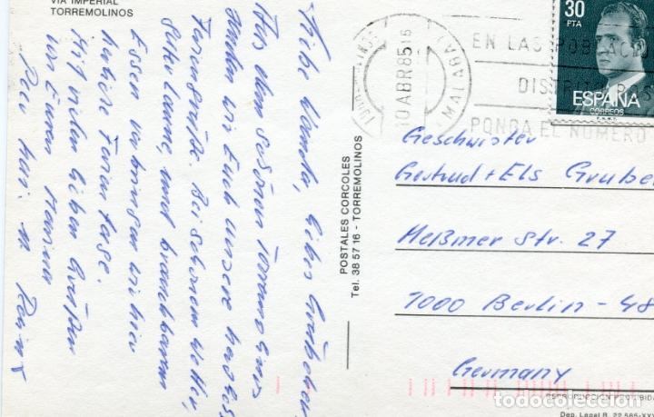 Postales: TORREMOLINOS. APARTAMENTOS TIMOR SOL. POSTALES CORCOLES. VER REVERSO - Foto 2 - 171823642