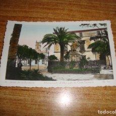 Postales: (ALB-TC-103) POSTAL JEREZ DE LA FRONTERA MONUMENTO AL MARQWUES DE CASA DOMENECQ ESCRITA. Lote 171842069