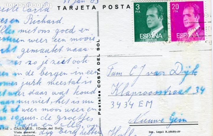Postales: CASARES. CIRCULADA. POSTALES COSTA DEL SOL. VER REVERSO - Foto 2 - 171845030
