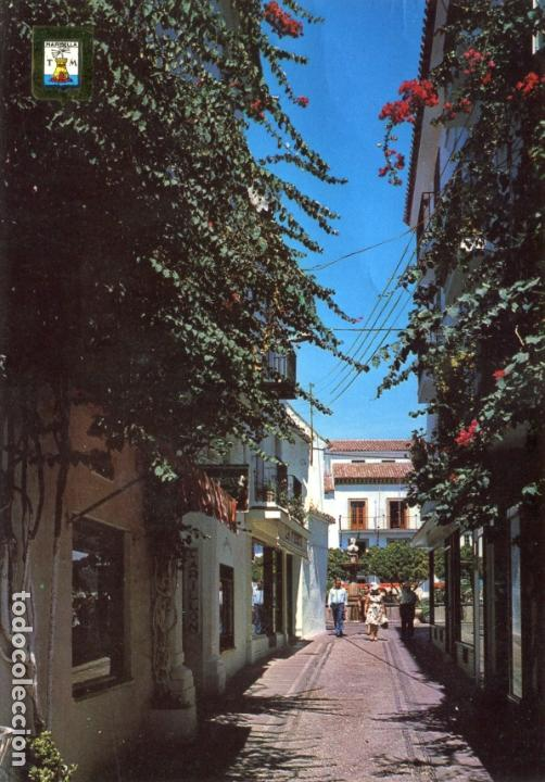 MARBELLA CALLE TIPICA. CIRCULADA. DOMINGUEZ. VER REVERSO (Postales - España - Andalucia Moderna (desde 1.940))