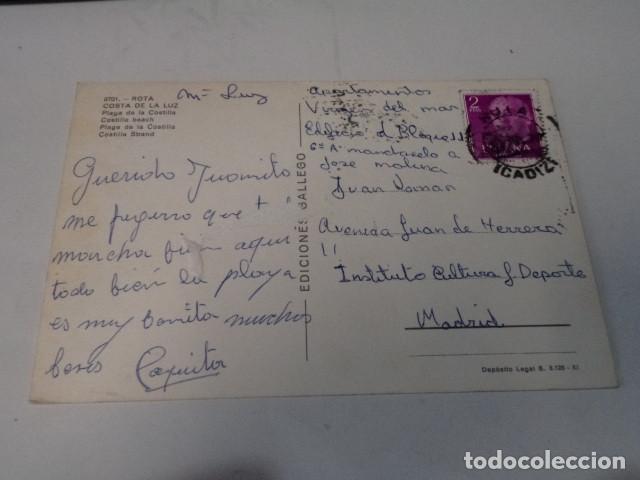 Postales: CÁDIZ - POSTAL ROTA - PLAYA DE LA COSTILLA - Foto 2 - 171962513