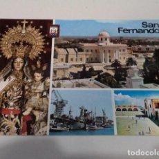 Postales: CÁDIZ - POSTAL SAN FERNANDO - VIRGEN DEL CARMEN CORONADA - INSTITUTO Y OBSERVATORIO DE MARINA. Lote 171963345