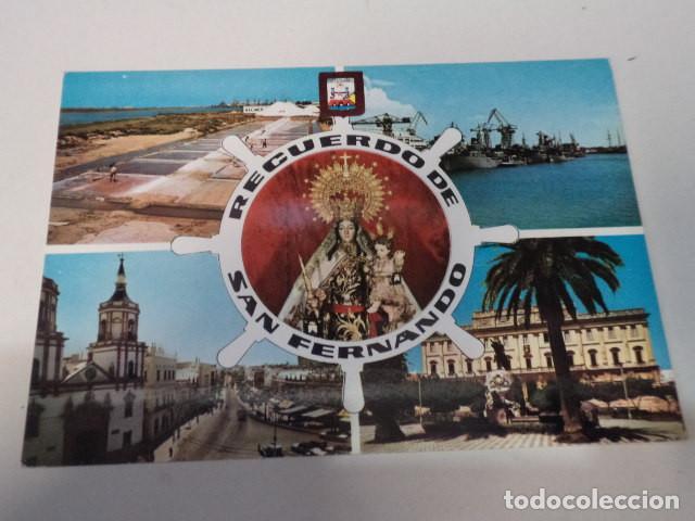 CÁDIZ - POSTAL SAN FERNANDO - SALINAS - BUQUES EN EL ARSENAL DE LA CARRACA (Postales - España - Andalucia Moderna (desde 1.940))