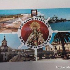 Postales: CÁDIZ - POSTAL SAN FERNANDO - SALINAS - BUQUES EN EL ARSENAL DE LA CARRACA. Lote 171964332
