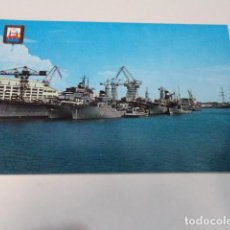 Postales: CÁDIZ - POSTAL SAN FERNANDO - BUQUES EN EL ARSENAL DE LA CARRACA. Lote 171964550