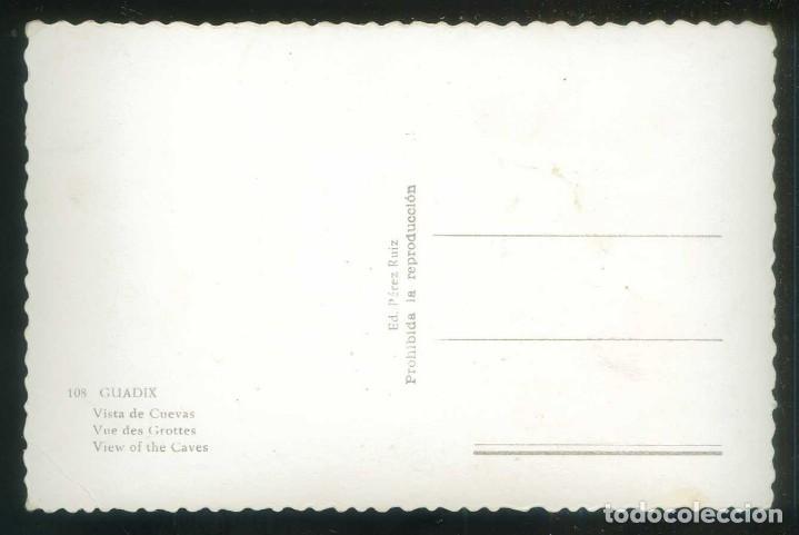Postales: Guadix. *Vista de Cuevas* Ed. Pérez Ruiz nº 108. Nueva. - Foto 2 - 171964589