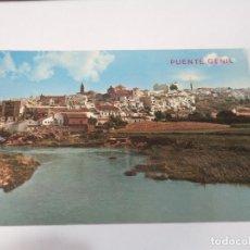 Postales: CÓRDOBA - POSTAL PUENTE GENÍL - RÍO GENÍL Y VISTA PARCIAL. Lote 171986460
