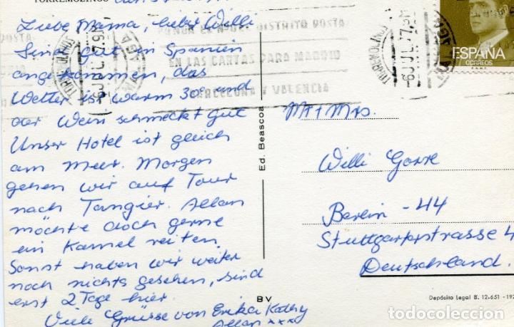 Postales: COSTA DEL SOL. TORREMOLINOS. CIRCULADA. BEASCOA. VER REVERSO - Foto 2 - 172004644