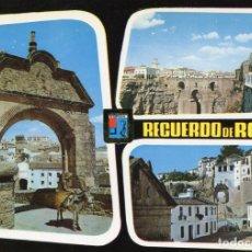 Postales: RONDA. ARCO ROMANO SILLON DEL MORO. PUENTE NUEVO. DOMINGUEZ. SIN CIRCULAR. Lote 172035070