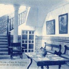 Postales: SEVILLA RARA POSTAL CASA DE AMERICA. GRAFOS.. NO CIRCULADA . Lote 172325412