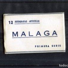 Postales: LIBRITO CON POSTALES DE MALAGA TAMAÑO 9.00 X 5.50 CM-CONTIENE 12 UNIDADES-VER FOTO ADICIONAL .. Lote 173624784