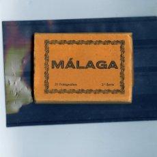 Postales: LIBRITO CON POSTALES DE MALAGA TAMAÑO 9.50 X 8.50-CON MUCHA CALIDAD FOTOGRAFICA.VER FOTO ADICIONAL .. Lote 173625633