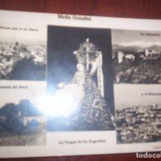 Postales: GRANADA - VIRGEN DE LAS ANGUSTIAS Y VISTAS. Lote 173883227