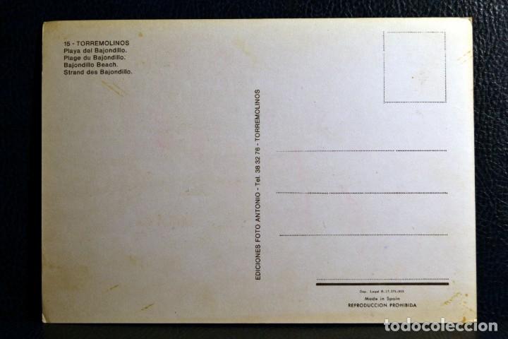 Postales: PLAYA DEL BAJONDILLO - TORREMOLINOS - 15 - EDICIONES FOTO ANTONIO - Foto 2 - 174329227