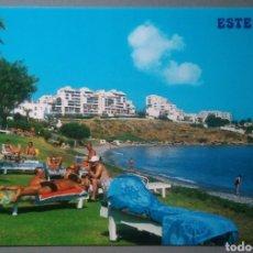 Postales: POSTAL 60 ESTEPONA COSTA DEL SOL PLAYA DE SEGHERS AÑO 1987 ED ARRIBAS. Lote 174331284