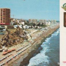 Postales: (39) TORREMOLINOS. VISTA AEREA DE LA PLAYA LA ROCA .. LIGERO DOBLEZ EN ESQUINA. Lote 174977223